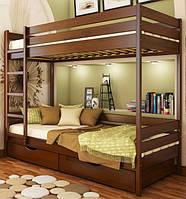 Дуэт кровать двухъярусная деревянная (Эстелла) щит, фото 1