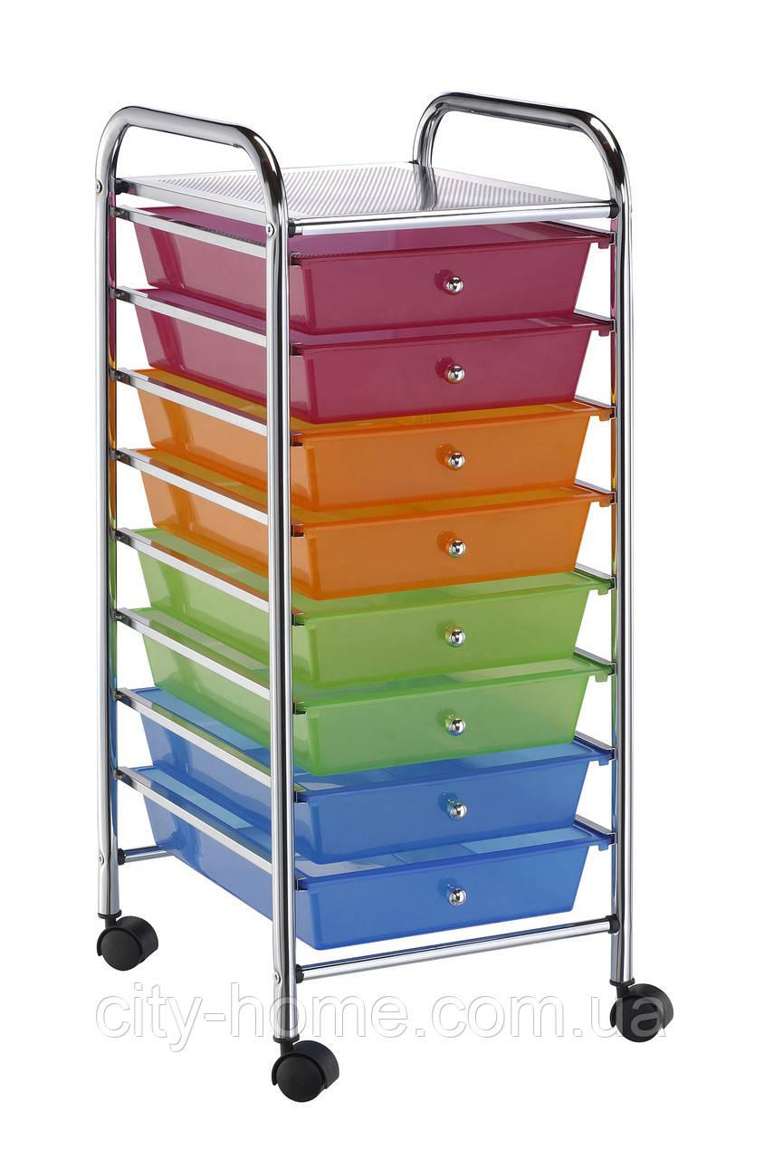 Комод пересувний на вісім кольорових ящиків