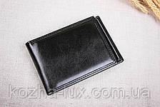 Зажим для денег с откидной кредитницей, чёрный, фото 2