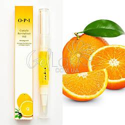 "Масло для кутикулы ""OPI Cuticle Revitalizer Oil"" карандаш с кисточкой 5 мл (апельсин)"