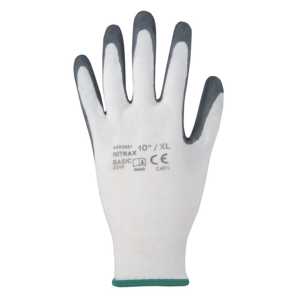 Перчатки рабочие NITRAX BASIC с нитриловым покрытием (Чехия)