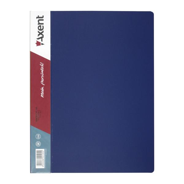 Папка скоросшиватель А4 с карманом синяя Axent 1304