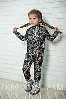 Детский атласно-гипюровый костюм