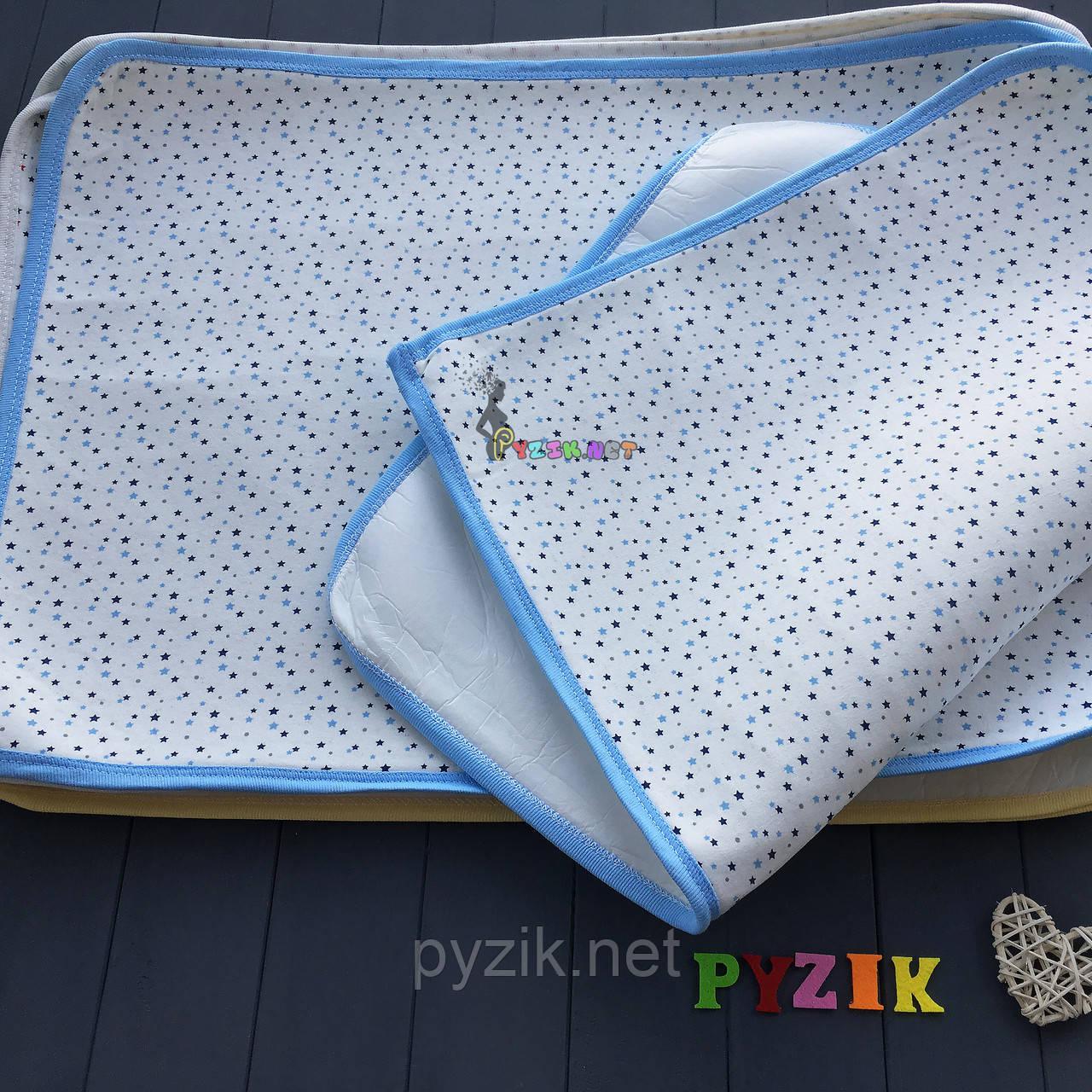 Пеленка-клеенка непромокаемая многоразовая голубая