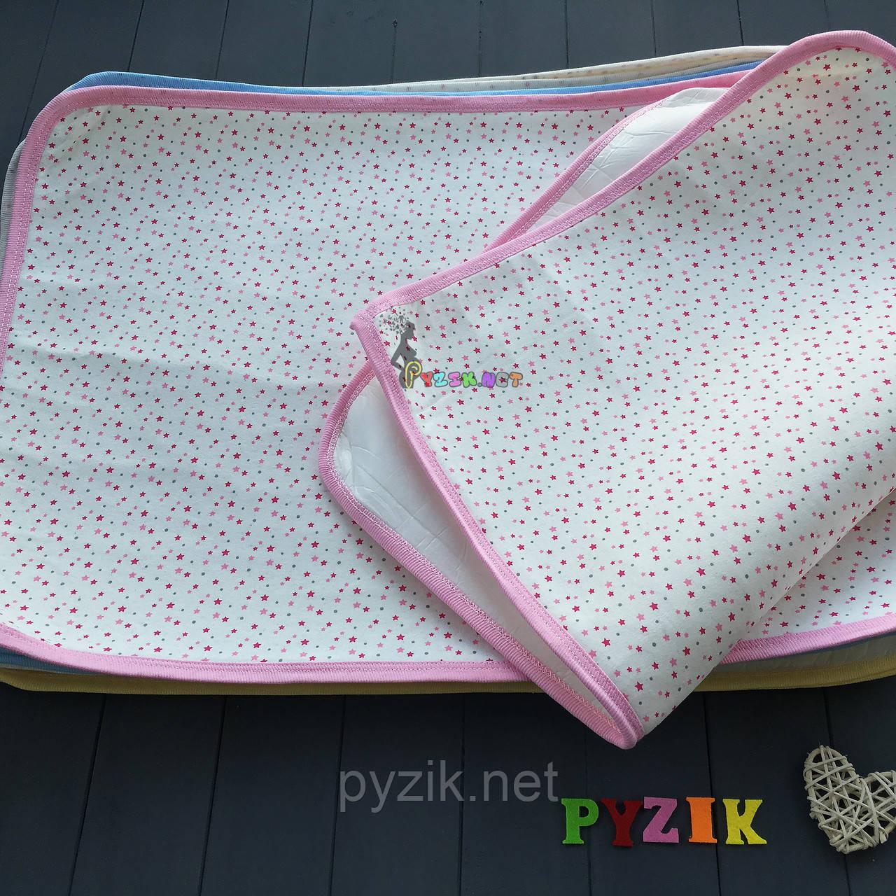Пеленка-клеенка непромокаемая многоразовая розовая