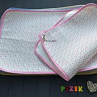 Пеленка-клеенка непромокаемая многоразовая розовая, фото 1