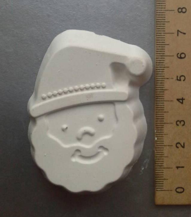 Гипсовая фигурка заготовка для раскрашивания. Гіпсова фігурка для розмальовування. Санта, дед мороз