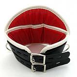 Черный-красный медицинский корсет для шеи Deluxe Padded, фото 3