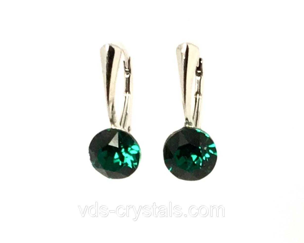 Сережки жіночі Swarovski Emerald