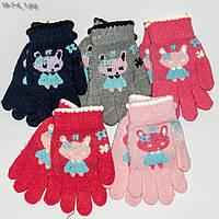 Оптом перчатки детские на девочек 2-4 года - №18-7-4, фото 1