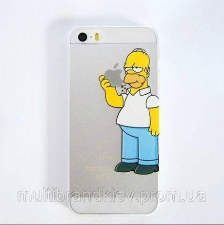 """Прикольные чехлы на телефон Пластиковая задняя панель """"Гомер"""" для Iphone 5/5s 6 Защитные панели на айфон Идеи"""