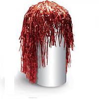 Парик из дождика J01690, размер 35 см, цвета ассорти, ПВХ, парик декоративный, парик праздничный