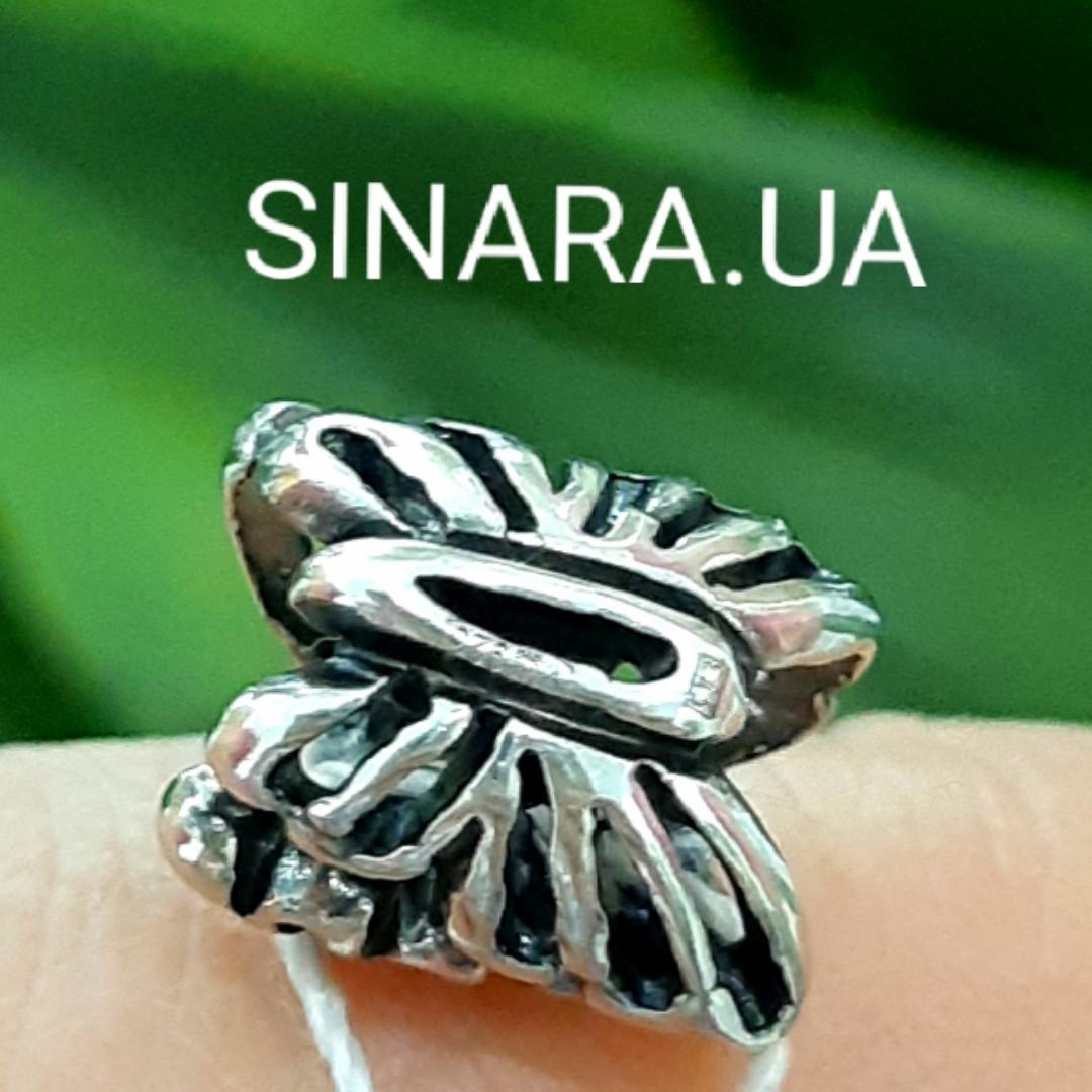 Шарм Бабочка Пандора серебро 925 пробы