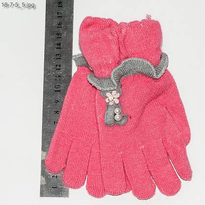 Оптом перчатки детские на девочек 3-5 лет - №18-7-5, фото 2