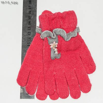 Оптом перчатки детские на девочек 3-5 лет - №18-7-5, фото 3