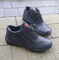 Кросівки шкіряні зимові чорні чоловічі. Тільки 40 розміри! f6b5c4fb1392b