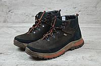 Мужские кожаные зимние ботинки кроссовки