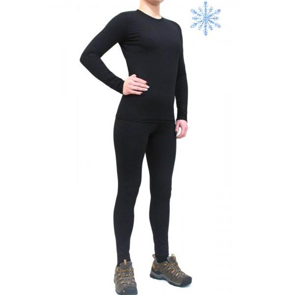 Термобелье женское FIREPOWER Polarflis-Stretch Черное