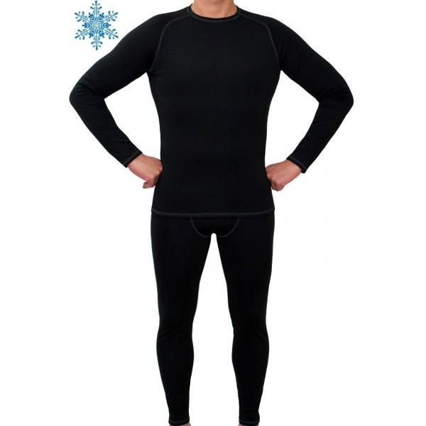 Термобелье мужское FIREPOWER Polarflis-Stretch Черное