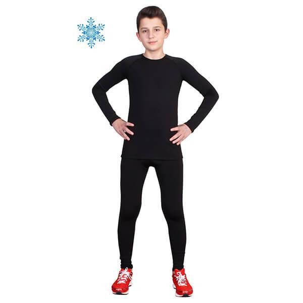 Термобілизна дитячий для хлопчиків FIREPOWER Polarflis-Stretch Чорне