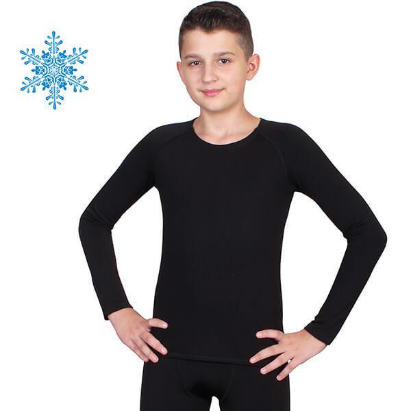 Термокофта детская для мальчиков FIREPOWER Polarflis-Stretch Черная