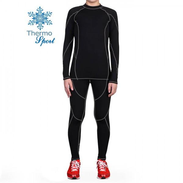 Термобелье мужское FIREPOWER Sport Polarflis-Stretch Черное с серым