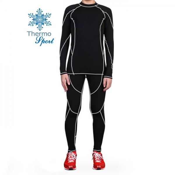 Термобелье мужское FIREPOWER Sport Polarflis-Stretch Черное с белым