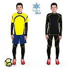 Термобелье детское для мальчиков FIREPOWER Sport Polarflis-Stretch Черное с желтым, фото 2