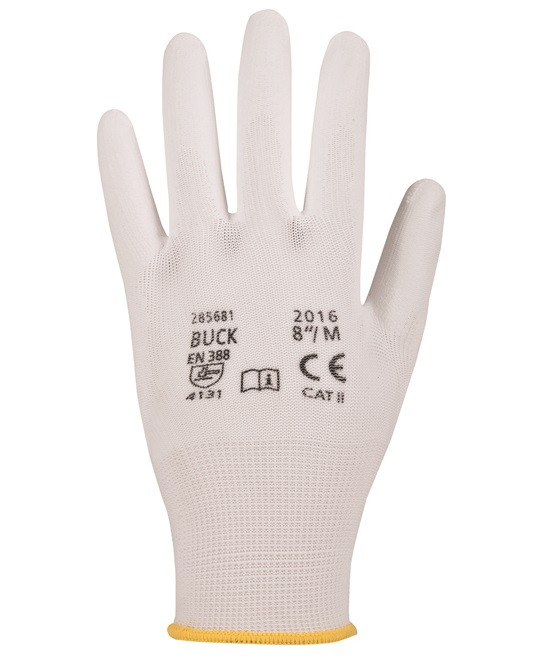 Перчатки нейлоновые BUCK с ПУ покрытием (Чехия)