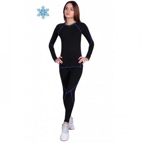 Термобелье женское FIREPOWER Sport Polarflis-Stretch Черное с синим