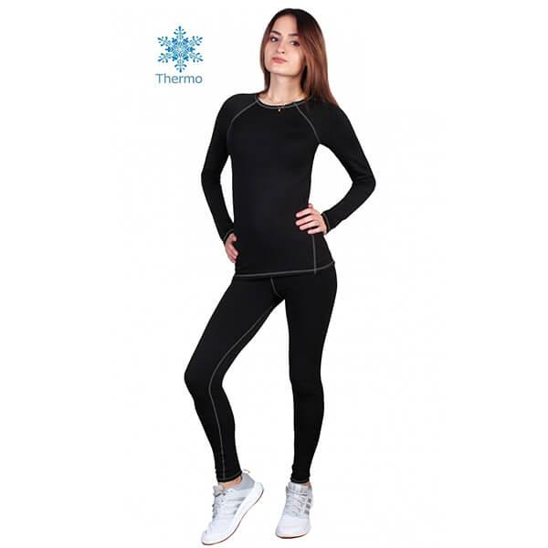 Термобелье женское FIREPOWER Polarflis-Stretch Черное с серым