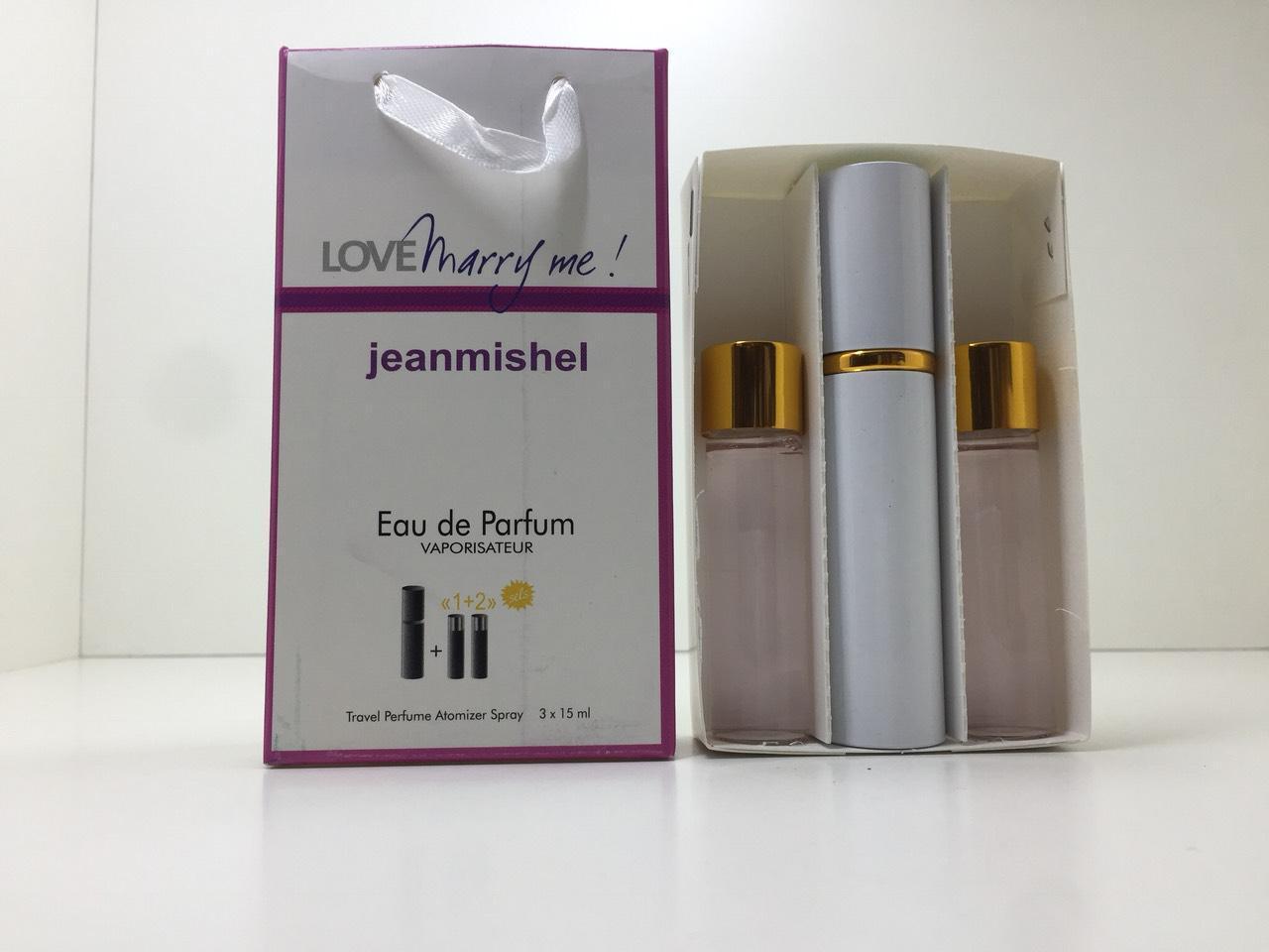 Подарочный набор духов Jeanmishel Marry Me (Жанмишель Мерри Ми) 3 по 15 мл