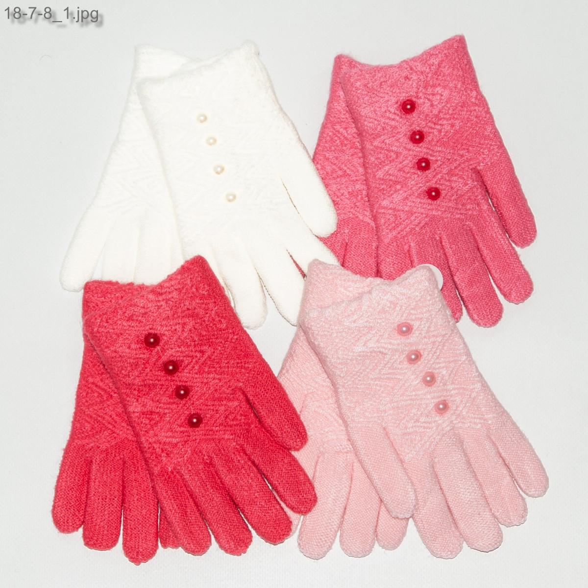 Оптом перчатки детские на девочек 4-6 лет - №18-7-8