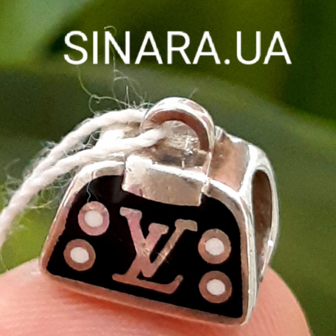 Серебряный подвес шарм Pandora Сумочка LV - Сумочка Луи Вуитон шарм серебро 925