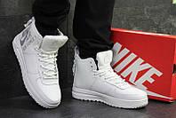 2f189078 Кроссовки найк эйр форс 1 зимние с мехом белые кожаные (реплика) Nike Air  Force