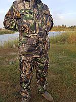 Демисезонный камуфляжный костюм для охоты и рыбалки Лес с зеленым листом
