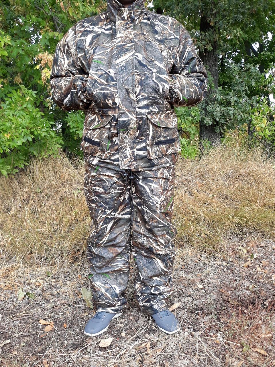 Демісезонний камуфляжний костюм для полювання і риболовлі на флісі очерет skadi
