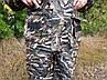 Демісезонний камуфляжний костюм для полювання і риболовлі на флісі очерет skadi, фото 4