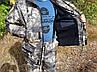 Демисезонный камуфляжный костюм для охоты и рыбалки на флисе пестрый орел, фото 3