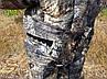 Демисезонный камуфляжный костюм для охоты и рыбалки на флисе пестрый орел, фото 5