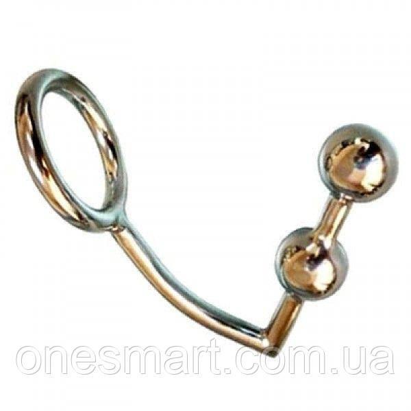 Кольцо на пенис с анальными шарами