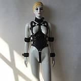 Бондаж для тела из качественных кожаных ремней, фото 2