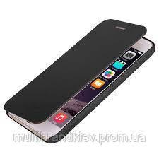 Кожаный чехол-книжка для iPhone 5 5S белый
