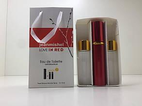 Подарочный набор духов Jeanmishel In Red (Жанмишель Ин Рэд) 3 по 15 мл