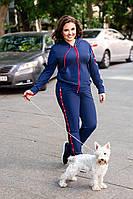 Спортивный костюм женский большого размера с капюшоном и карманом кенгуру