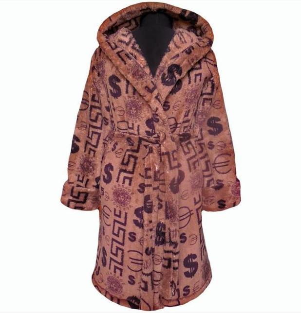 Детский подростковый махровый халат запах на поясе теплый банный домашний зимний велсофт мягкий с капюшоном