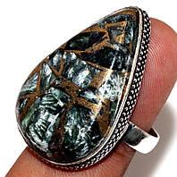Интереснейшее кольцо с серафинитом в стиле винтаж