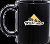 Нанесение логотипа на черную  кружку
