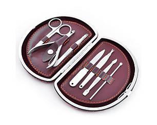 Маникюрный набор № D7, 7 предметов, искусственная кожа.