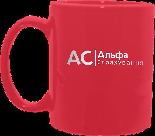 Нанесение логотипа на красную кружку, фото 2